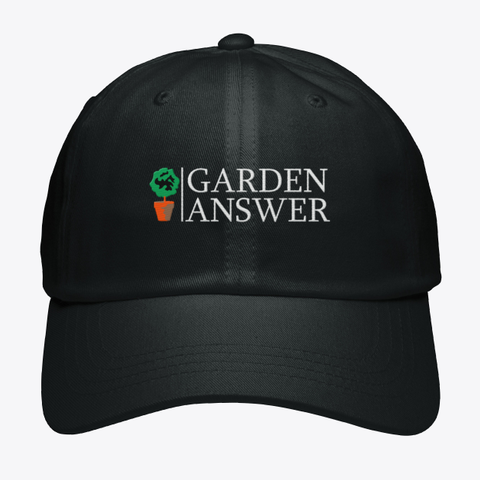 Garden Answer Black T-Shirt Front
