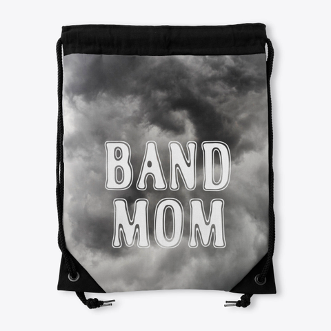 Band Mom Outline   Black Cloud Collection Standard T-Shirt Back