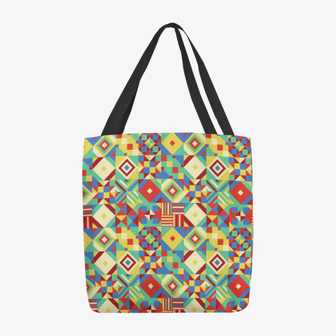 Geometric Quilted Tote Bag Standard T-Shirt Front