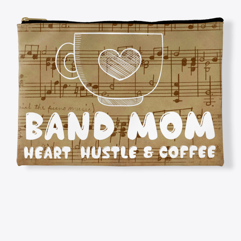 Band Mom Heart   Score Collection Standard T-Shirt Front