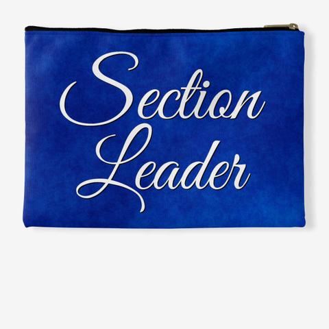 Section Leader (Cursive) Blue Collection Standard T-Shirt Back