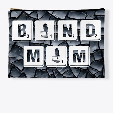 Band Mom Scrabble   Black Crackle  Standard T-Shirt Front