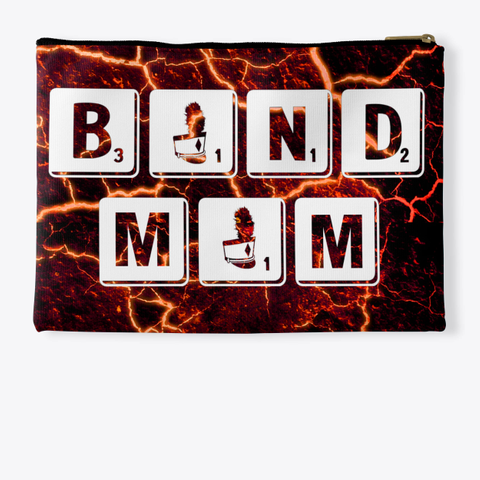 Band Mom Scrabble   Lava Collection Standard T-Shirt Back