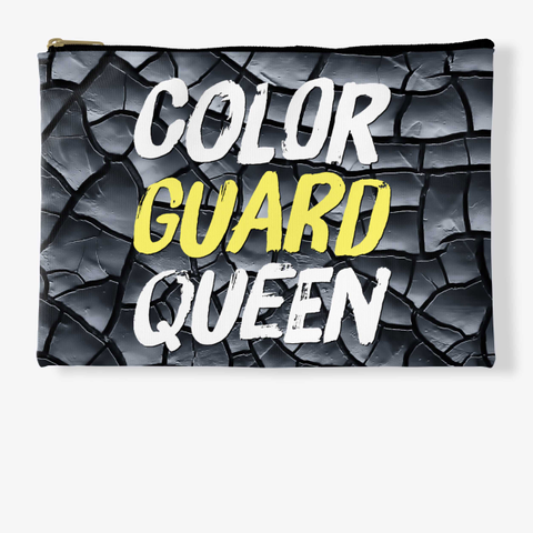 Color Guard Queen (Paint)   Black Crackle Collection Standard T-Shirt Front