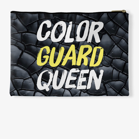 Color Guard Queen (Paint)   Black Crackle Collection Standard T-Shirt Back