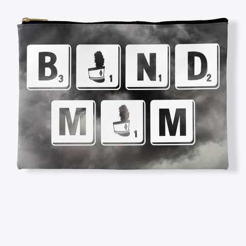 Band Mom Scrabble   Black Cloud Collection Standard T-Shirt Front