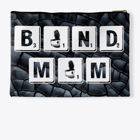 Band Mom Scrabble   Black Crackle  Standard T-Shirt Back