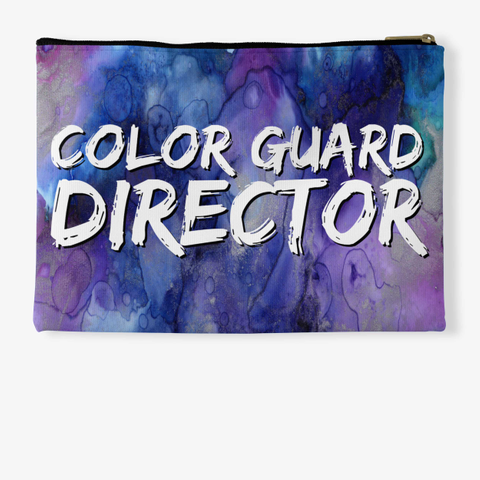 Color Guard Director   Purple Collection Standard T-Shirt Back