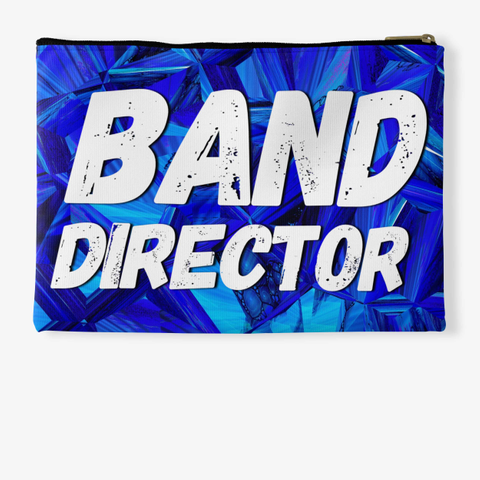 Band Director   Blue Crystal Collection Standard T-Shirt Back