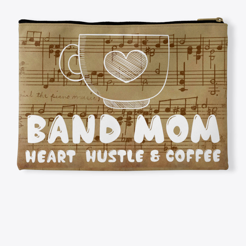 Band Mom Heart   Score Collection Standard T-Shirt Back
