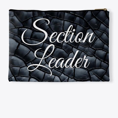 Section Leader (Cursive)   Black Crackle Collection Standard T-Shirt Back