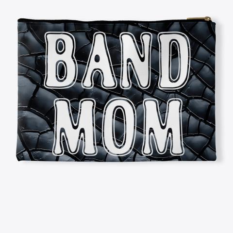 Band Mom Outline   Black Crackle  Standard T-Shirt Back