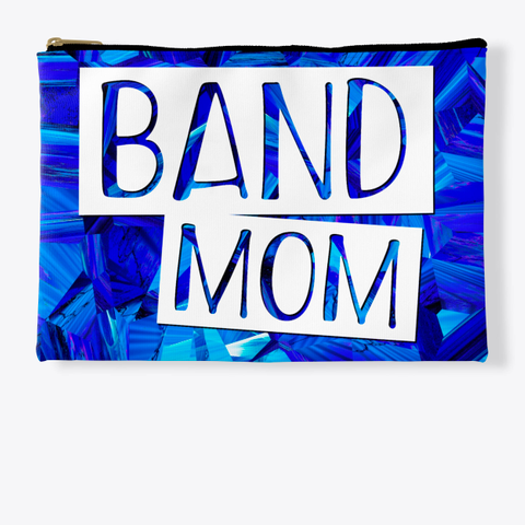 Band Mom   Blue Crystal Collection Standard T-Shirt Front