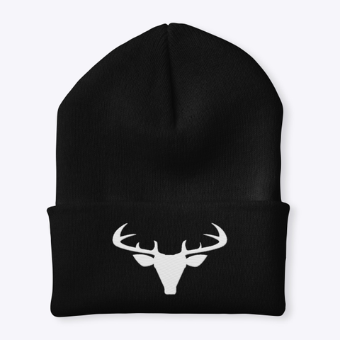 Deer Season   Hunter Beanie Black T-Shirt Front