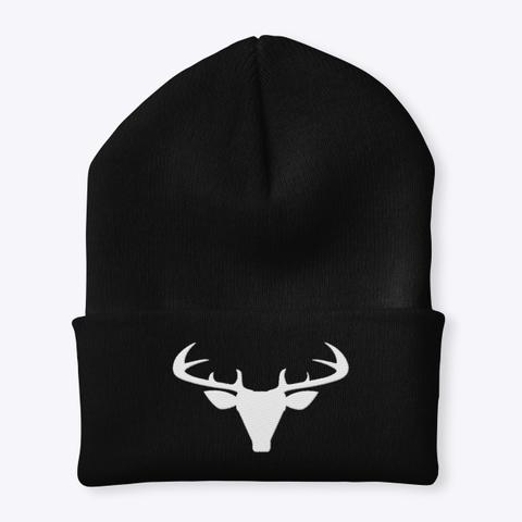 Deer Season   Hunter Beanie Black T-Shirt Front
