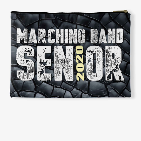 Marching Band Class Of 2020 Black C. Standard T-Shirt Back