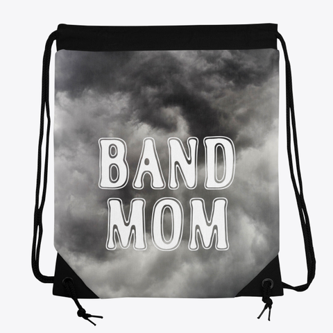 Band Mom Outline   Black Cloud Collection Standard T-Shirt Front