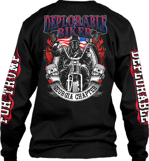 Deplorable Biker Ga Chapter Black T-Shirt Back