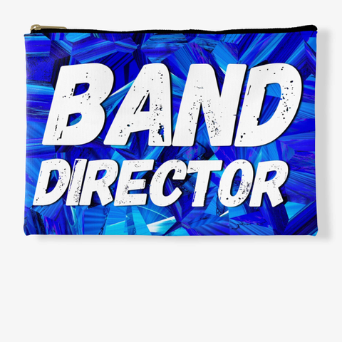 Band Director   Blue Crystal Collection Standard T-Shirt Front