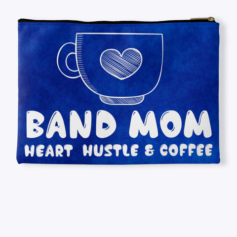 Band Mom Heart   Blue Collection Standard T-Shirt Back