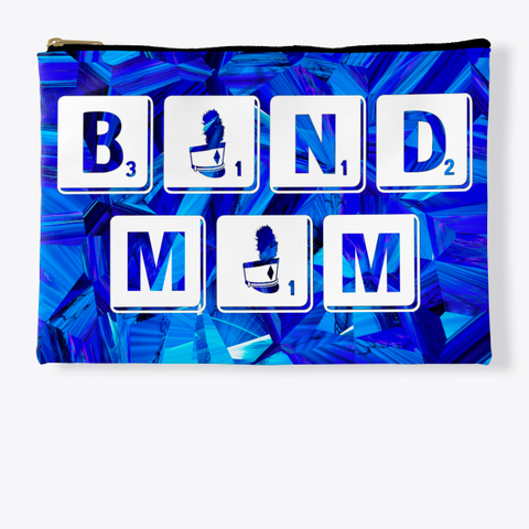 Band Mom Scrabble Blue Crystal Collect. Standard T-Shirt Front