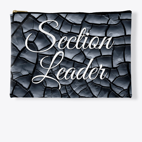 Section Leader (Cursive)   Black Crackle Collection Standard T-Shirt Front