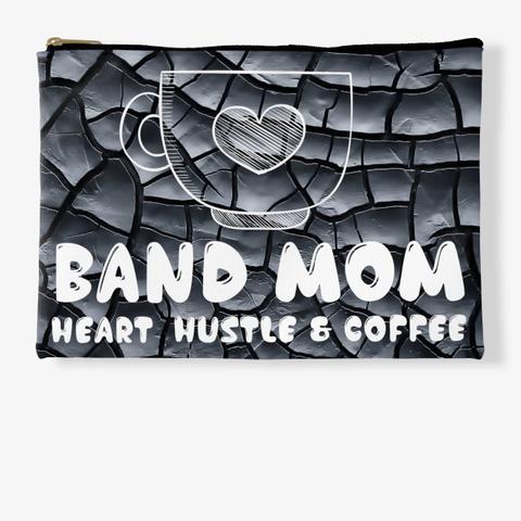 Band Mom Heart   Black Crackle  Standard T-Shirt Front