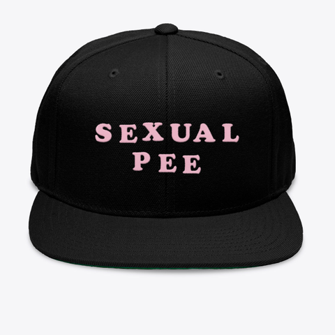 Sexual Pee Black T-Shirt Front