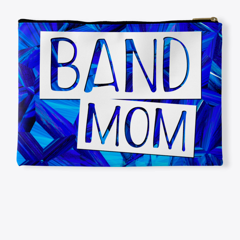 Band Mom   Blue Crystal Collection Standard T-Shirt Back