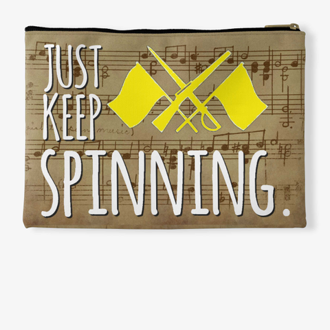 Color Guard Just Keep Spinning   Score Collection Standard T-Shirt Back
