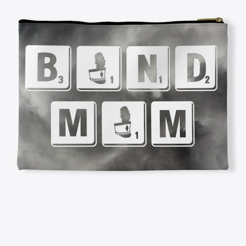 Band Mom Scrabble   Black Cloud Collection Standard T-Shirt Back