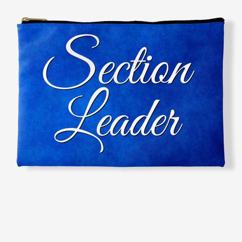 Section Leader (Cursive) Blue Collection Standard T-Shirt Front