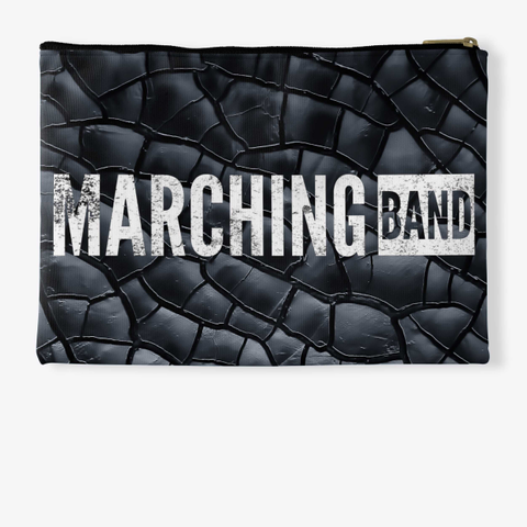 Marching Band   Black Crackle Collection Standard T-Shirt Back