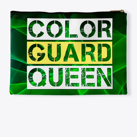 Color Guard Queen   Green Collection Standard T-Shirt Back