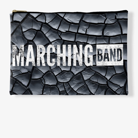 Marching Band   Black Crackle Collection Standard T-Shirt Front