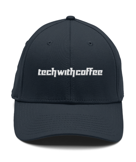 Techwithcoffee διαφορα χρωματα Deep Navy T-Shirt Front