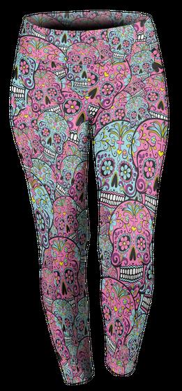 Dia De Los Muertos Custom Legging T-Shirt Front