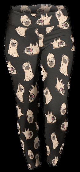 145 Pugs Leggings Custom Legging T-Shirt Front
