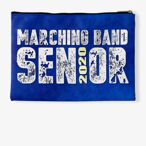 Marching Band Class Of 2020 Blue Collect Standard T-Shirt Back