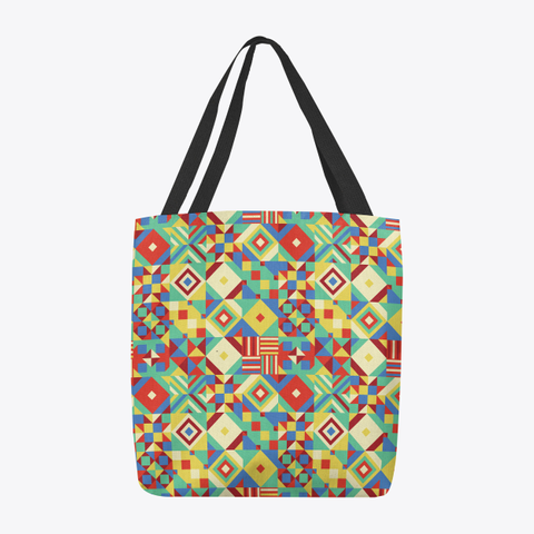 Geometric Quilted Tote Bag Standard T-Shirt Back