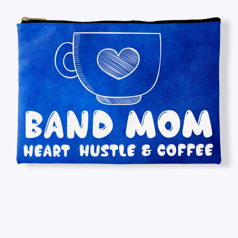 Band Mom Heart   Blue Collection Standard T-Shirt Front