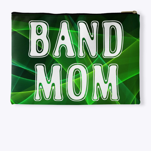 Band Mom Outline   Green Collection Standard T-Shirt Back