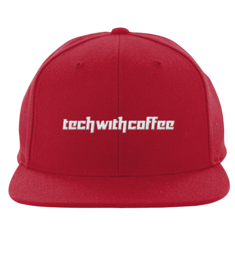 Techwithcoffee διαφορα χρωματα Red T-Shirt Front