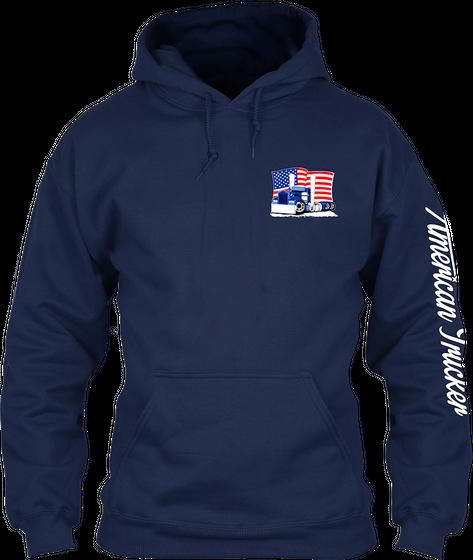 American Trucker Navy T-Shirt Front