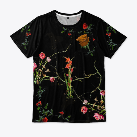 Bpf (Black Pixel Floral) Standard T-Shirt Front