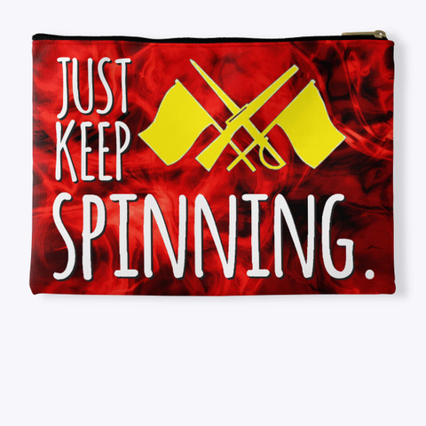 Color Guard   Just Keep Spinning   Red Flame Collection Standard T-Shirt Back
