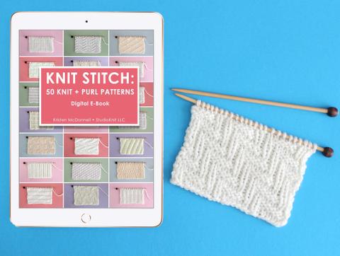 Knit Stitch Pattern E Book (50 Stitches)  T-Shirt Front