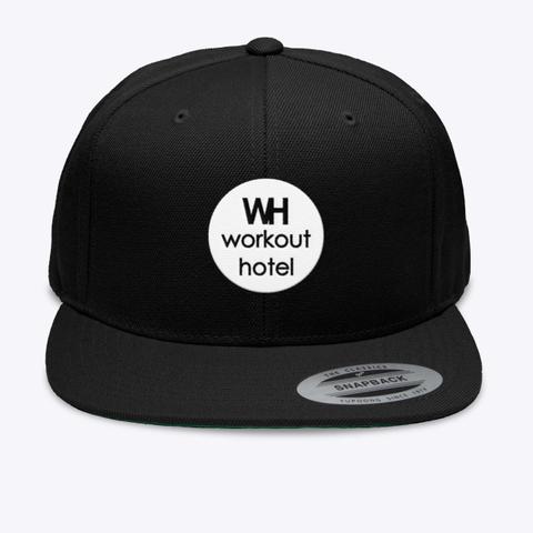 Workout Hotel Hat Black T-Shirt Front