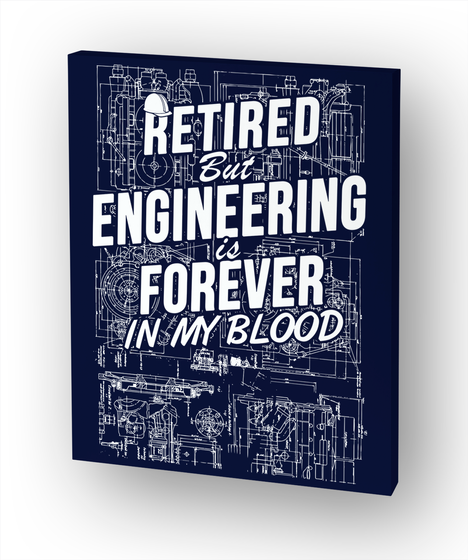 Retired Engineer Canvas White Kaos Front