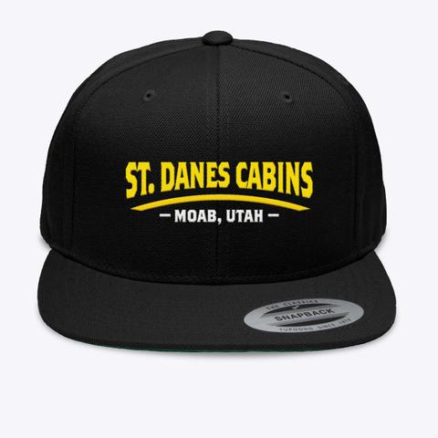 St.Danes Cabins   Moab, Utah   Black T-Shirt Front